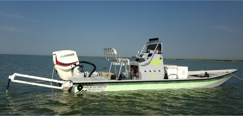 custom built 24 ft Torent boat powered by 2014 Evinrude ETEC